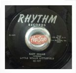 "45Re ✦ LITTLE WILLIE LITTLEFIELD ✦""Baby Shame / Mistreated"" Steady Driving R&B ♫"